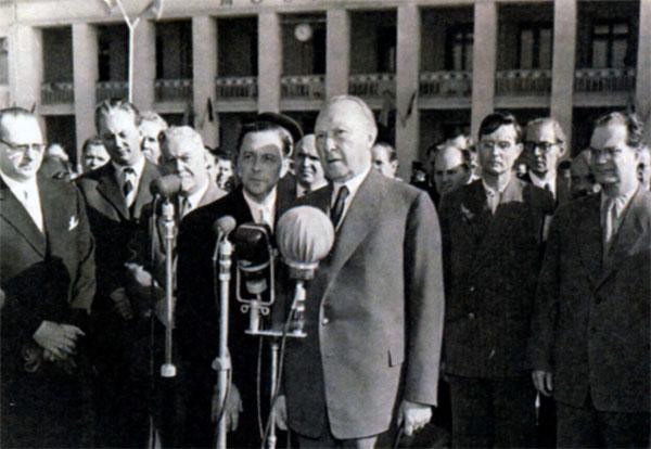Аденауэр в Москве. 1955 г.