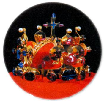 Копия святовацлавской короны, изготовленной для коронации Карла IV королем Чехии в 1347 году. Хранится в Карлштейнском замке