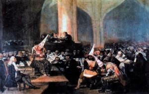 Трибунал инквизиции. Художник Ф. Гойя. 1812-1819 гг.