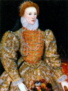Королева Аеглии Елизавета I. Неизвестный художник. 1575 г.