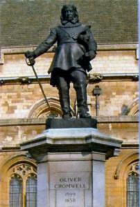 Статуя Кромвеля в Вестминстере