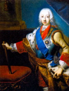 Петр III (1728-1762), император. Художник Г.-К. Гротт