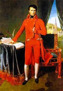 Наполеон Бонапарт - первый консул. Художник Ж.-О.-Д. Энгр. 1803-1804 гг.
