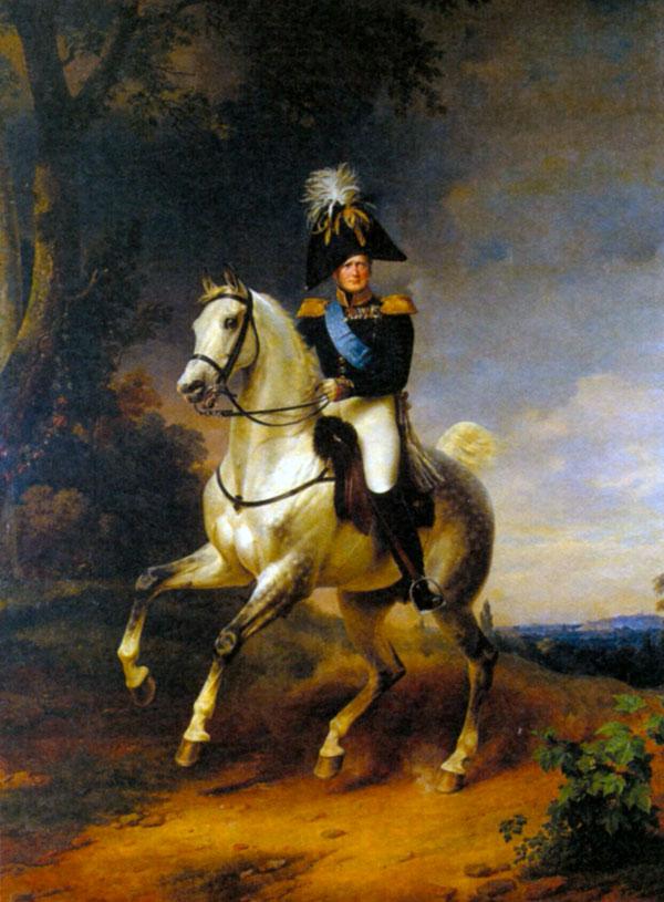 Александр I в 1812 году. Художник Ф. Крюгер