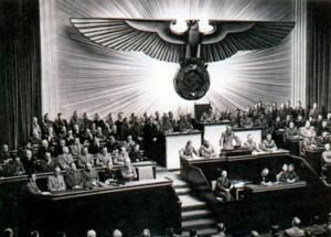 Выступление Гитлера в рейхстаге.