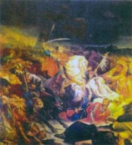 Куликовская битва. Роспись Большого Кремлевского дворца. 1850 г.
