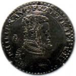 Изображение Филиппа II на монете