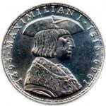 Монета, посвященная 450-летию со дня смерти Максимилиана. 1969 г.