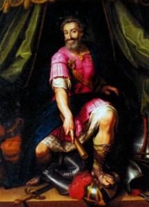 Генрих IV - победитель Лиги в виде Марса. Художник Ж. Бюнель 1601 г.