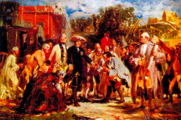 Фридрих Великий в путешествии. Художник А. фон Менцель. Ок. 1850 г.