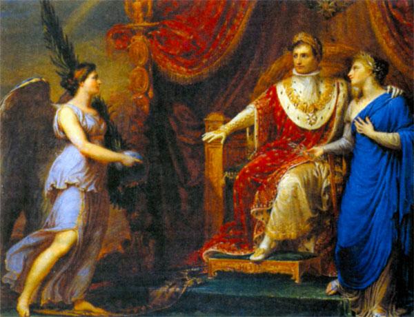 Аллегорическое изображение императора Наполеона. Художник А. Аппиани