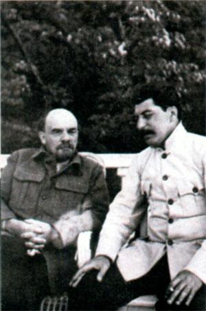 Ленин и Сталин в Горках. Ок. 1923 г.