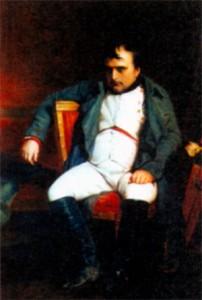 Наполеон после отречения во дворце Фонтенбло. Художник П. Деларош. 1845 г.