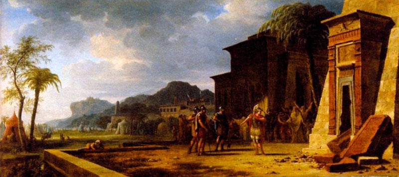 Александр Великий у гробницы Кира Великого. Художник П. Г. де Валенцинес 1796 г.