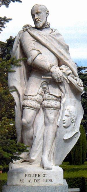 Статуя Филиппа II в Мадриде. 1598 г.