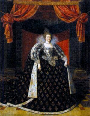 Мария Медичи (1575-1642). Художник Ф. Поурбус Младший