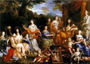Семья Людовика XIV. Художник Ж. Нокре. 1670 г.