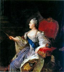 Екатерина II. Художник Ф. С. Рокотов. 1763 г.